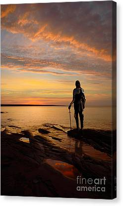 Knight At Sunrise Canvas Print by Jill Battaglia