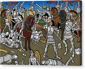 Chivalrous Canvas Print - Knights, 1489 by Science Source