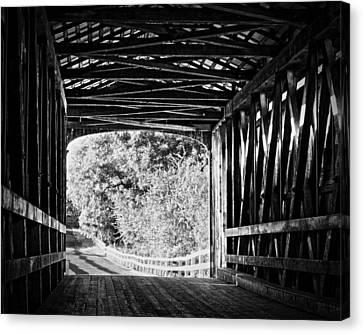 Knights Ferry Covered Bridge Canvas Print