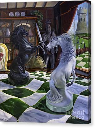 Armor Canvas Print - Knight's Magic by Jeanne Newton Schoborg