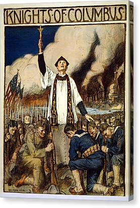 Knights Of Columbus, 1917 Canvas Print by William Balfour Kerr