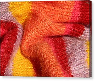 Knitted Textile Canvas Print by Kerstin Ivarsson