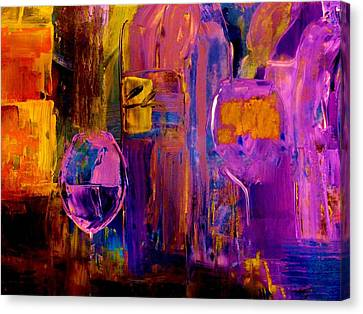 Wine Glass Ice Sculpture Canvas Print by Lisa Kaiser