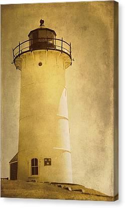Knobska Point Light Lighthouse Woods Hole Ma Canvas Print by Suzanne Powers