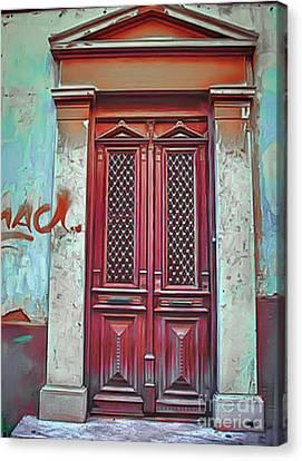 Symbolically Canvas Print - Knock Knock by Eleni Mac Synodinos