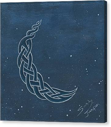 The Knotty Moon Canvas Print by Sandy Jasper