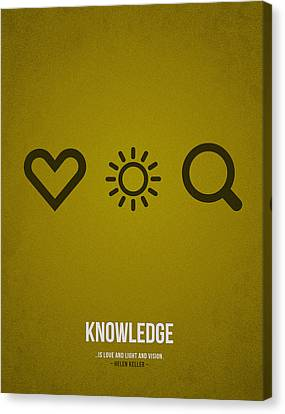 Library Canvas Print - Knowledge by Aged Pixel