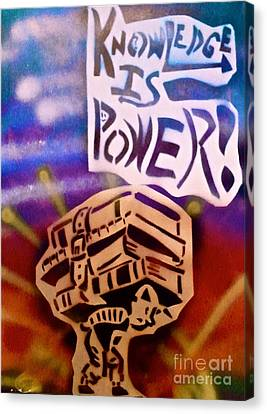 Knowledge Is Power 1 Canvas Print by Tony B Conscious