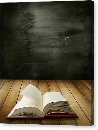 Knowledge Canvas Print by Les Cunliffe