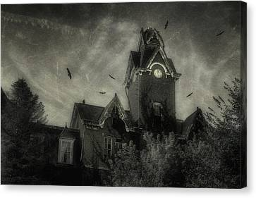 Asylum Canvas Print - Knox County Poorhouse by Tom Mc Nemar
