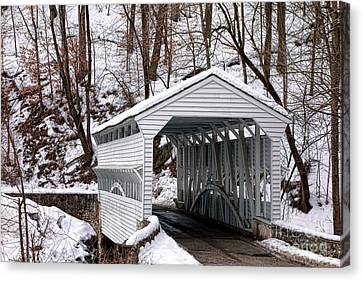 Covered Bridges Canvas Print - Knox Covered Bridge by Olivier Le Queinec