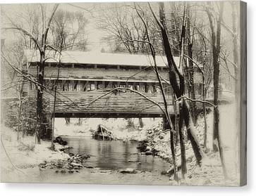Knox Valley Forge Covered Bridge Canvas Print by Bill Cannon