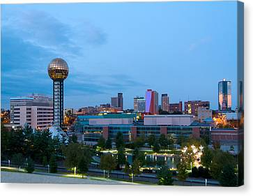 Knoxville At Dusk Canvas Print by Melinda Fawver
