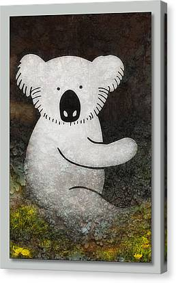 Koala Art 01 Canvas Print by Kevin Chippindall