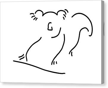 Koala Canvas Print - koala bear Asia China by Lineamentum