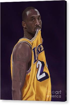 Kobe Bean Bryant Canvas Print by Jeremy Nash