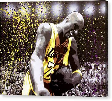 Kobe Canvas Print by Bobby Zeik