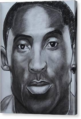 Kobe Bryant Canvas Print by Aaron Balderas