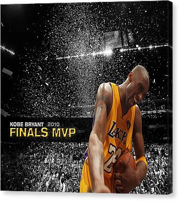 Kobe Bryant Canvas Print by Brian Reaves