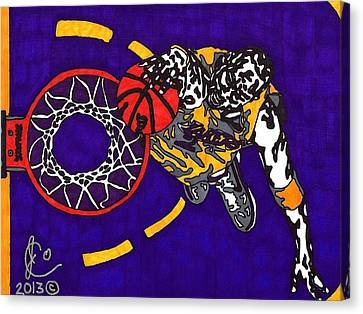Kobe Bryant Canvas Print by Jeremiah Colley
