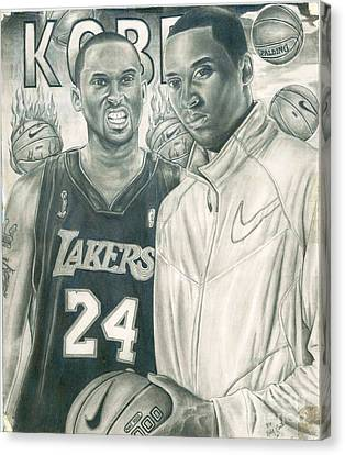 Kobe Bryant Canvas Print by Kobe Carter