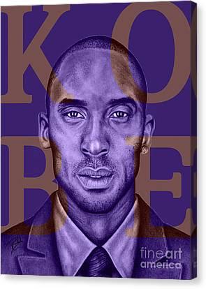 Kobe Bryant Lakers' Purple Canvas Print