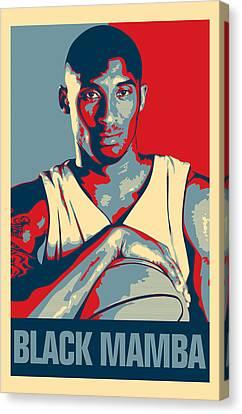 Kobe Bryant Canvas Print by Taylan Apukovska