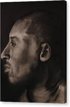Kobe Charcoal 1 Canvas Print by Cuca Montoya