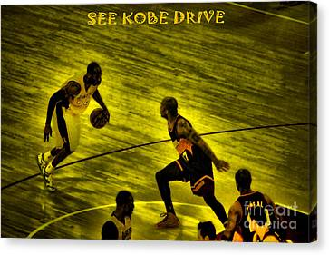 Kobe Lakers Canvas Print by RJ Aguilar