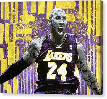 Kobe The Destroyer Canvas Print by Bobby Zeik