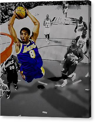 All Star Game Canvas Print - Kobe Took Flight II by Brian Reaves