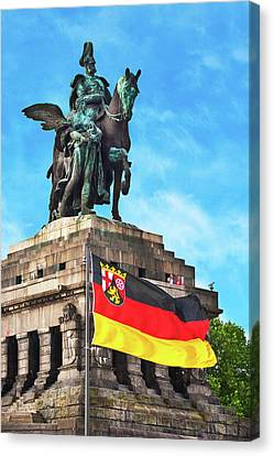 Koblenz, Germany, The Monument Canvas Print