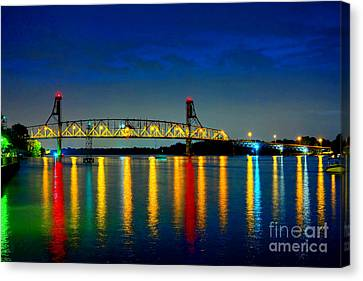 Kodachrome Bridge Canvas Print by Olivier Le Queinec