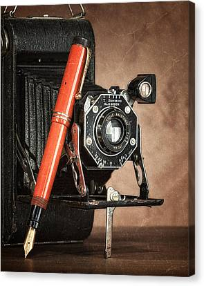 Kodak And Parker Still Life Canvas Print by Tom Mc Nemar