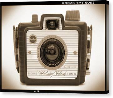 Kodak Brownie Holiday Flash Canvas Print by Mike McGlothlen