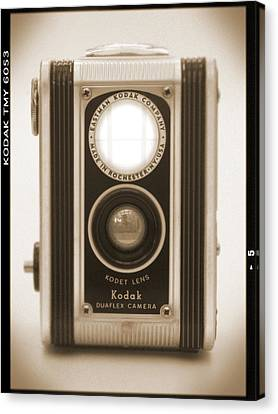 Classic Camera Canvas Print - Kodak Duaflex Camera by Mike McGlothlen