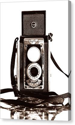 Kodak Duaflex Iv Camera Canvas Print by Jon Woodhams