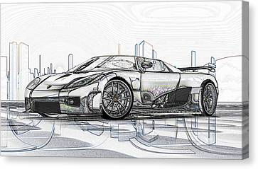 Koenigsegg Ccx Sketch  Canvas Print