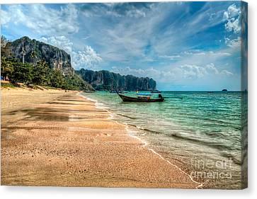 Koh Lanta Beach Canvas Print by Adrian Evans