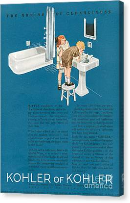 Kohler 1923 1920s Usa Cc Bathrooms Canvas Print by The Advertising Archives