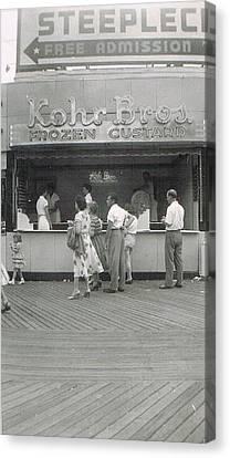 Kohr Bros Frozen Custard Atlantic City Nj Canvas Print by Joann Renner