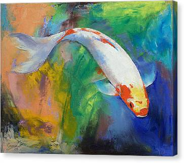 Coy Canvas Print - Koi Art Pirouette by Michael Creese