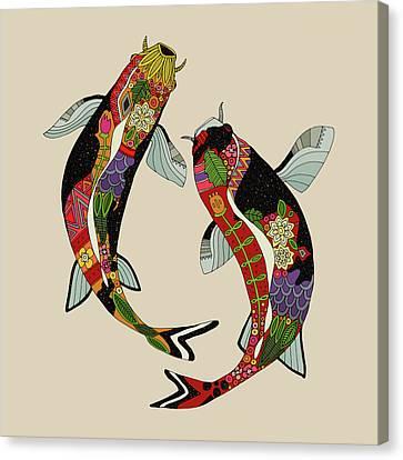 Koi Chamomile Canvas Print