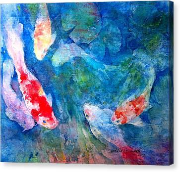 Koi Canvas Print by Cynthia Roudebush