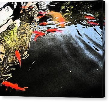 Fish Pond Canvas Print - Koi Dream by Joshua Sunday