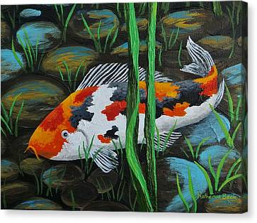 Koi Fish Canvas Print by Katherine Young-Beck