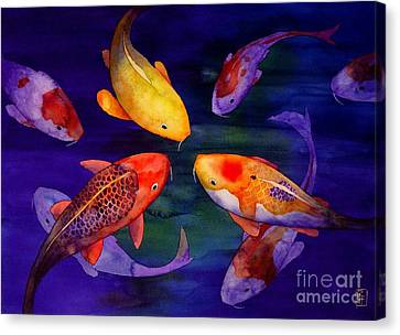 Koi Friends Canvas Print by Robert Hooper