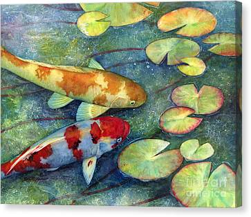 Koi Garden Canvas Print by Hailey E Herrera