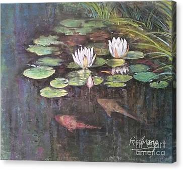 Koi Pond Canvas Print by Rose Wang