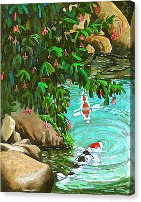 Koi Kingdom Canvas Print by Dan Redmon